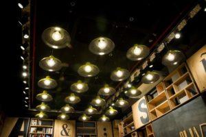 service d'éclairage intérieur